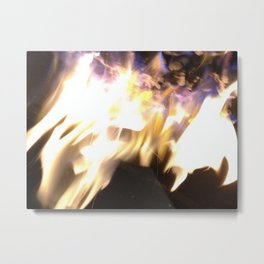 Blue Flame Metal Print