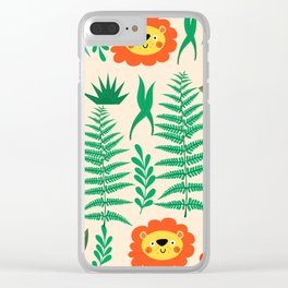 Jungle Pattern Clear iPhone Case