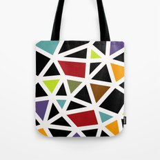 White lines & colors pattern #1 Tote Bag
