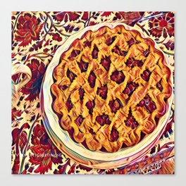 Coffee & Cherry Pie, Food For Thought Canvas Print