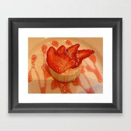 Strawberry cheesecake Framed Art Print