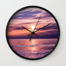 A Moving Sea Between The Shores Wall Clock