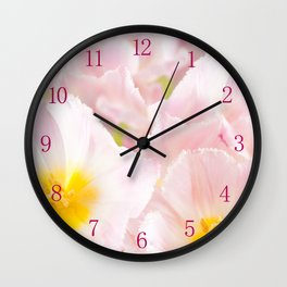 Light pink tulip macro inside Wall Clock
