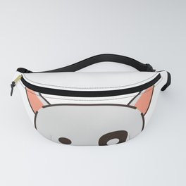 Resting Pit Face Pittie Dog Fanny Pack