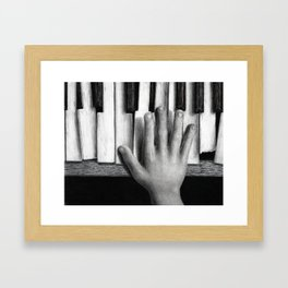 C Major - charcoal drawing Framed Art Print