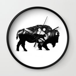 THE BISON AND THE COUGAR Wall Clock