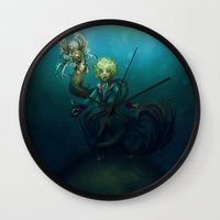 le petit prince Wall Clocks featuring Le Petit Prince by unyonstudios