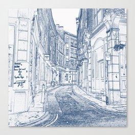 London Back Street Canvas Print
