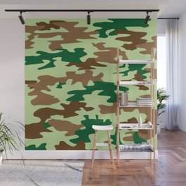Camouflage Print Pattern - Greens & Browns Wall Mural