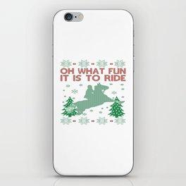 Riding Horse Christmas iPhone Skin