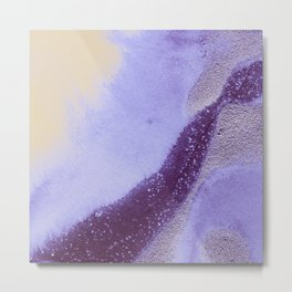 Metallic Watercolor - Moonstone Metal Print
