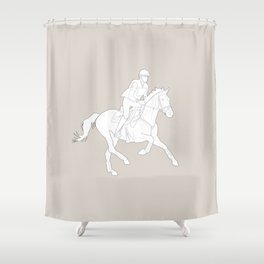 Eventing in brown Shower Curtain
