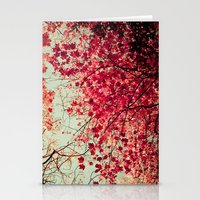 zen Stationery Cards featuring Autumn Inkblot by Olivia Joy StClaire
