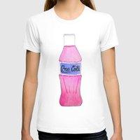 coke T-shirts featuring Pink Coke by Shellsea Art