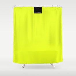Minimal Yellow Light Shower Curtain