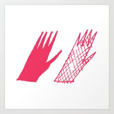 Hand and glove Art Print
