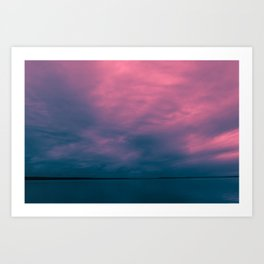 Gloomy sky at thunderclouds Art Print