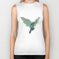 angel wings Biker Tanks featuring ANGEL by Illu-Pic-A.T.Art