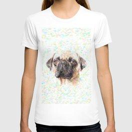 Pointillistic Pug T-shirt