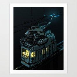 The Midnight Trolley Art Print