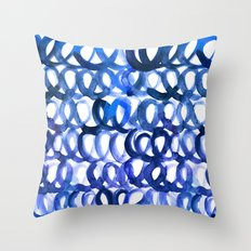 Breaking the waves Throw Pillow