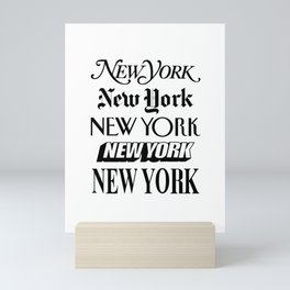 I Heart New York City Black and White New York Poster I Love NYC Design black-white home wall decor Mini Art Print