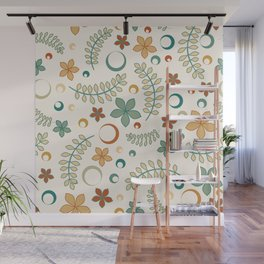 Late Summer Floral Pattern Wall Mural