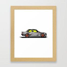 BMWM e30 MPower on BBS Framed Art Print