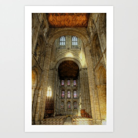 Peterborough Cathedral 2 Art Print