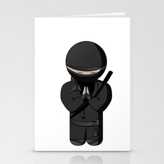 Ninja Bow Stationery Cards