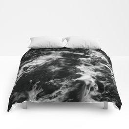Waves III - Black and White Comforters