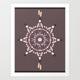 Breast Cancer Survivor Kaleidoscope Art Art Print