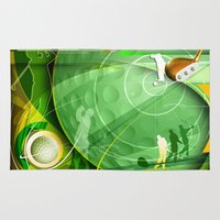 golf Area & Throw Rugs featuring Golf Anyone? by Robin Curtiss