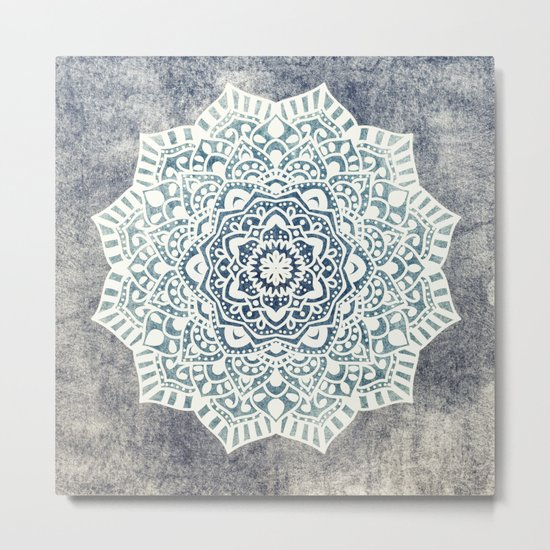 Fancy Boho Mandala Metal Print