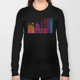San Francisco V2 skyline pop Long Sleeve T-shirt