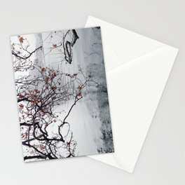 Plane Tree Branches Hanging Over Lake Stationery Cards