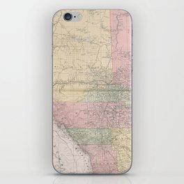 Vintage Map of Alberta Canada (1912) iPhone Skin