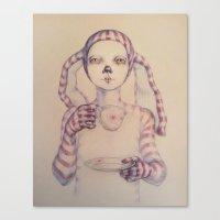 tea Canvas Prints featuring Tea? by Zina Nedelcheva