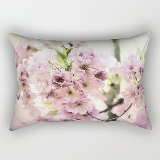 vintage cherry blossom Rectangular Pillow