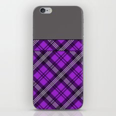 Scottish Plaid (Tartan) - Purple iPhone & iPod Skin