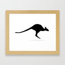 Silhouette Kangaroo Framed Art Print
