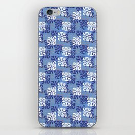 Swanky Mo Blue iPhone Skin