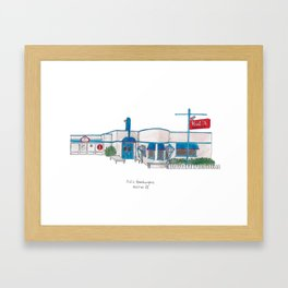 The Austin Collection: Hut's Hamburgers Framed Art Print