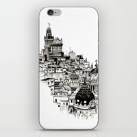 madrid iPhone & iPod Skins featuring Madrid by Justine Lecouffe