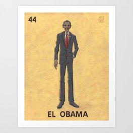 EL OBAMA Art Print