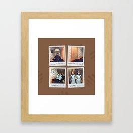 Jumelles et Chocolat Framed Art Print