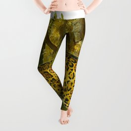 vintage leopard Leggings