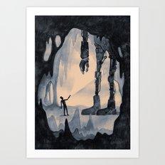 Cave Robot Art Print