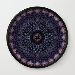 Stain glass mandala Wall Clock