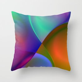 a towel full of colors -9- Throw Pillow